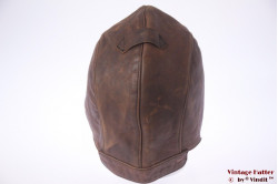 Aviator cap orange brown leather 61 (XL)