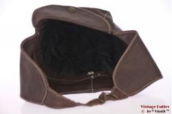 Aviator cap brown leather 58
