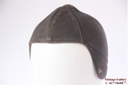 Aviator / Cabrio cap brown leather 54 (XS)