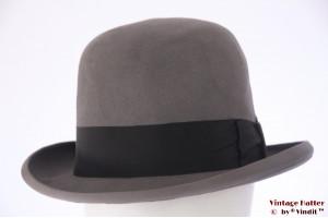 Bowler hat Dobesch grey felt 59
