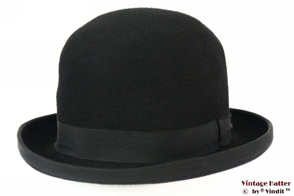 Bowler hat Lonconito black hardtop felt 56