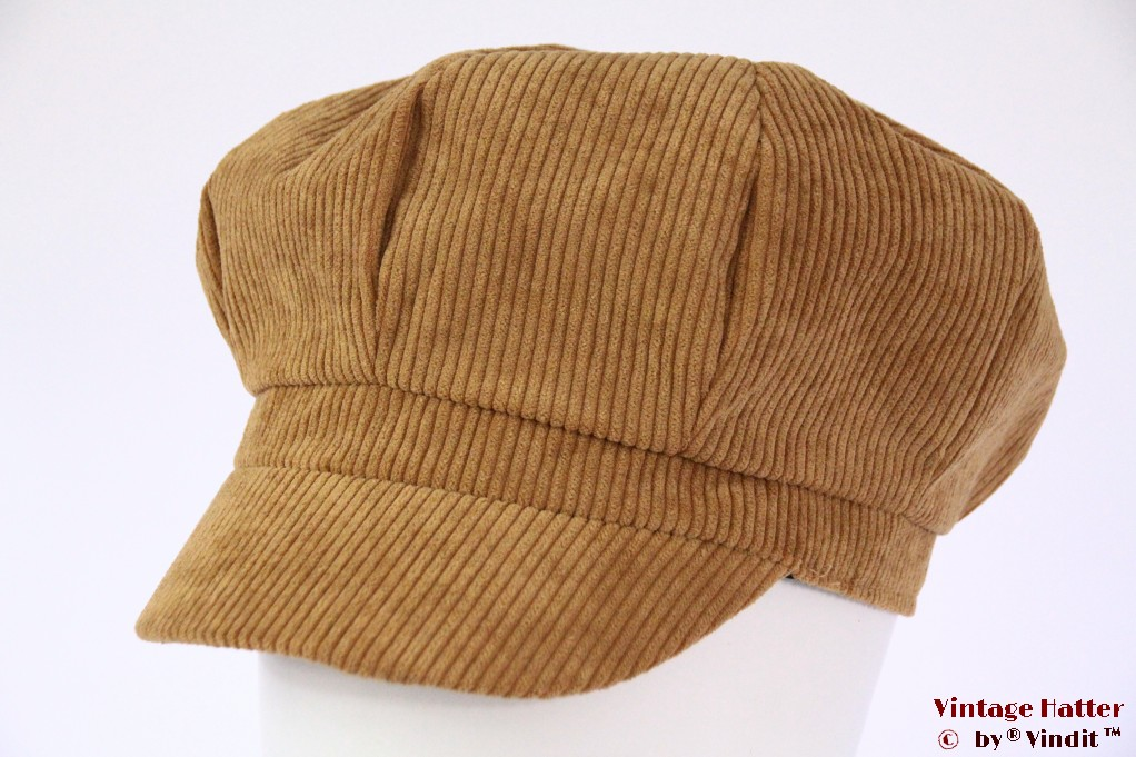 Balloon-type cap M-Union beige corduroy 54-59 [new]