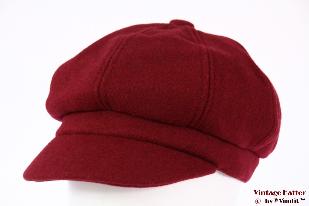 Balloon-type cap burgundy red felt 54-59 [new]