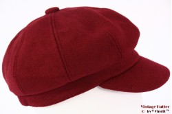 Balloon-type cap burgundy red felt 54-59 [new]