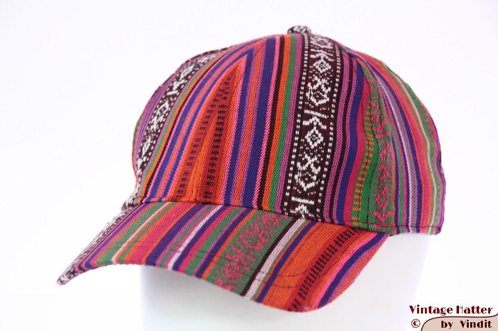 Adjustable cap Hawkins in red orange Aztec style 55-61 [new]