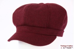 Balloon-type cap burgundy purple felt 56-60 [new]
