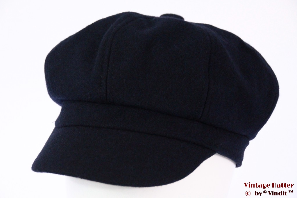 Balloon-type cap dark blue felt 53-56 (S) [new]