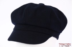Balloon-type cap dark blue felt 53-56 (S) [new]