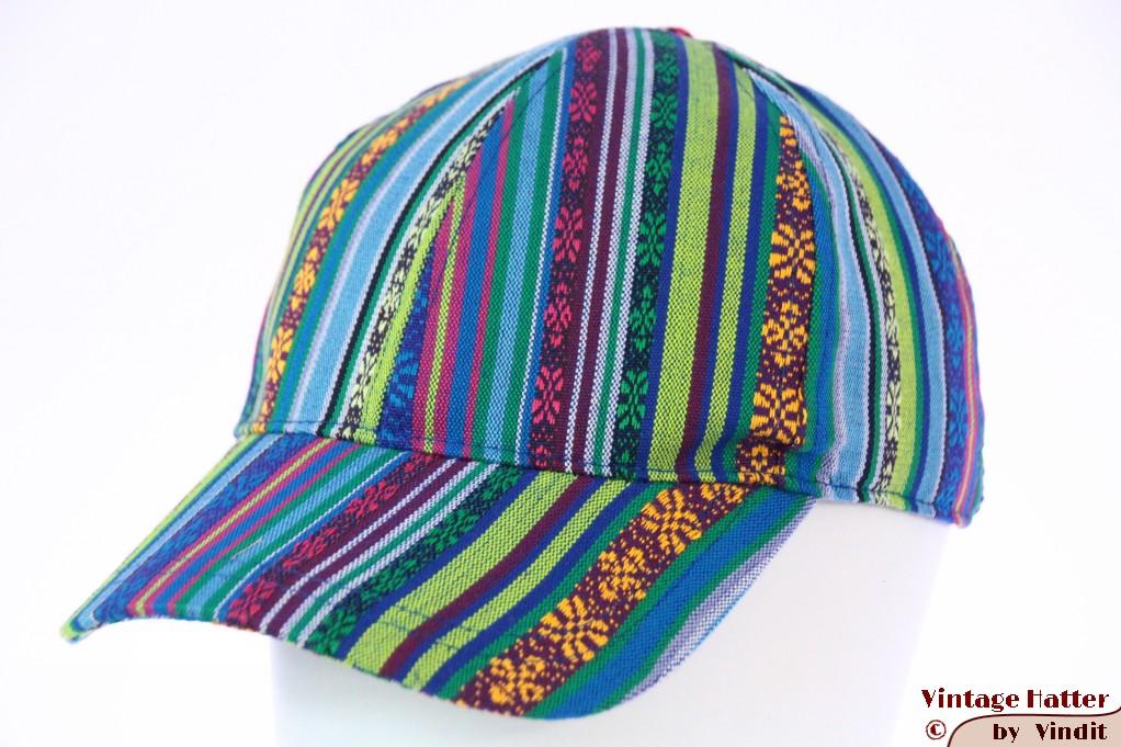 Adjustable cap Hawkins in blue green Aztec style 55-61 [new]
