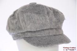Balloon-type cap Hawkins grey imitation angora 57-60 [new]