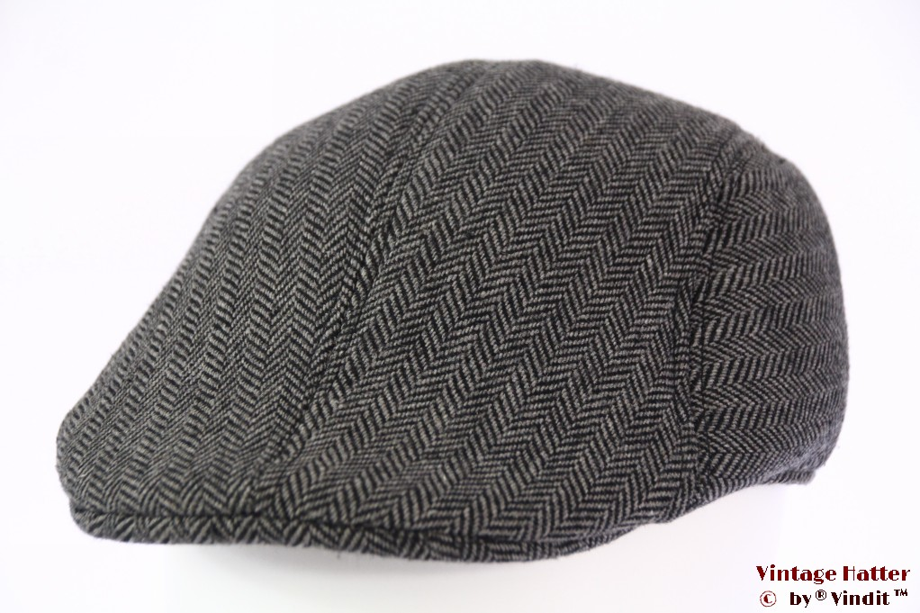 Preshaped cap grey herringbone 60 (XL)