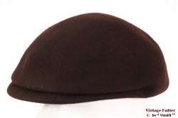 Preshaped flatcap brown felt 55 (S)