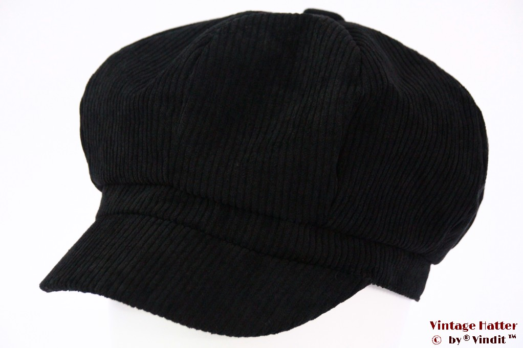 Balloon-type cap M-Union black corduroy 55-60 [new]