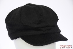 Balloon-type cap Hawkins black imitation angora 57-60 [new]