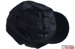 Balloon-type cap Seven black thin corduroy 57 [new]
