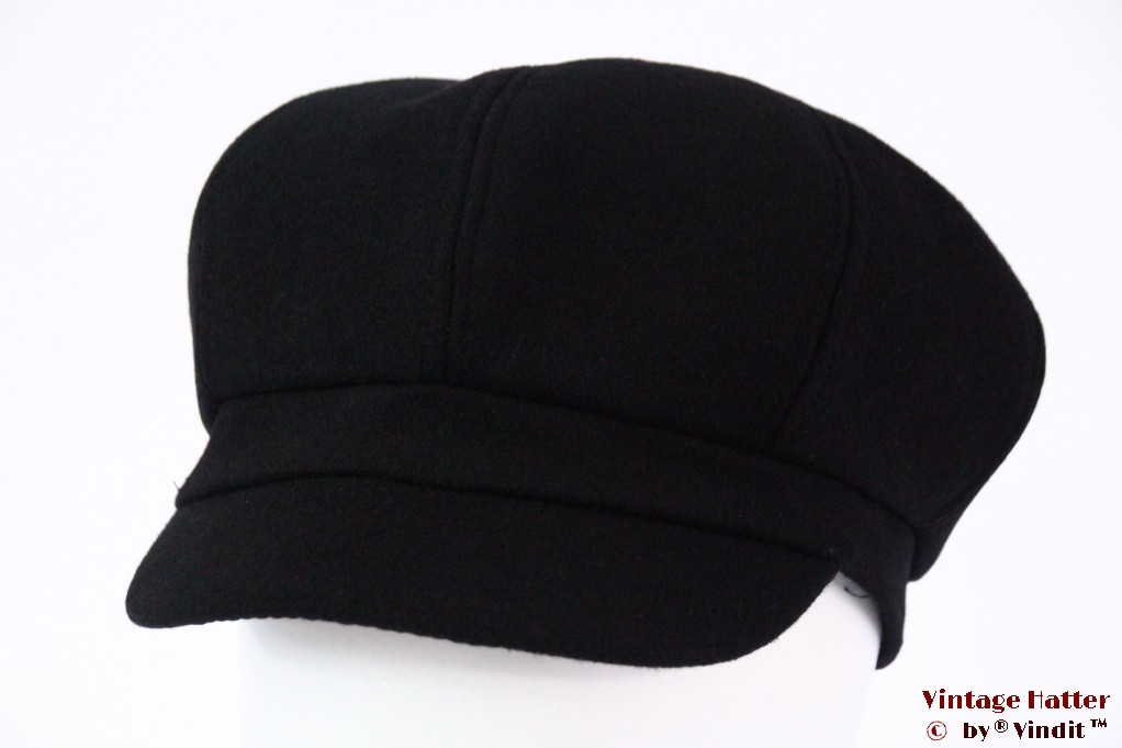 Balloon-type cap black felt 55-60 [new]