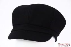 Balloon-type cap black felt 55-60 [new]