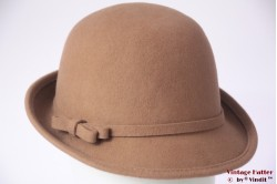 Ladies hat Hawkins beige brown felt 54 - 58 [new]