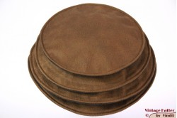 Ladies Pagode-hat The Madhatter caramel-blackish grey faux leather 54-57 [New]