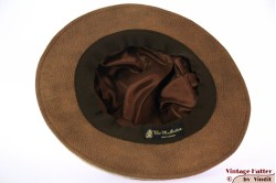 Ladies Pagode-hat The Madhatter caramel-beige faux leather 54-57 [New]