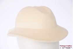 Ladies hat Adolf white felt 55,5 (S)