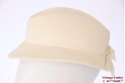 Ladies hat Adolf white felt 55,5 (S)