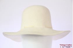 Ladies floppy hat Mayser cream white felt 56