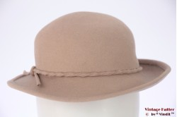 Ladies hat beige felt 54 (XS)