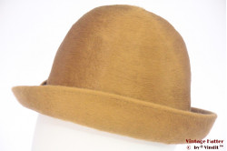 Ladies hat golden brown fur felt 56,5