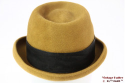 Ladies hat Midinette mustard yellow fur felt 56