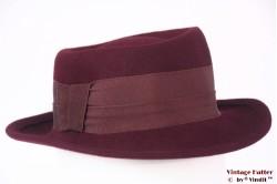 Ladies hat burgundy purple fur felt 54 (XS)