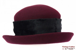 Ladies hat Hats&Friends burgundy felt 56-58