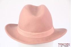 Ladies hat soft pink felt 54 (XS)