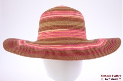 Floppy hat Hawkins pink brown coated paper 57 [new]