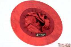 Ladies Pagode-hat The Madhatter red - beige faux leather 54-57 [New]