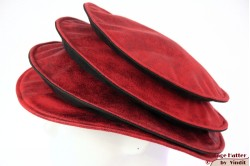Ladies Pagode-hat The Madhatter red - blackish grey faux leather 54-57 [New]