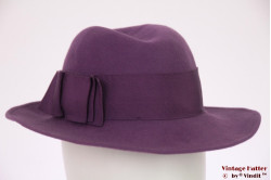 Ladies hat Tonak purple felt 54 (XS)