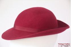 Ladies hat burgundy red felt 54 (XS)