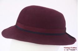 Ladies hat VEB burgundy purple fur felt 55 (S)