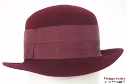 Ladies hat Canda burgundy purple felt 56