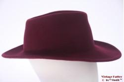 Unisex fedora burgundy purple felt 58