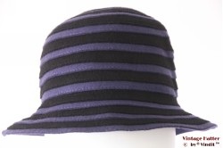 Ladies spiral hat purple black felt 56