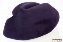 Cocktail hat Jacoll purple velvet unusual shape 57