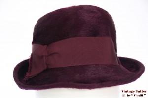 Ladies hat Myrtha purple velour 54 (xs)