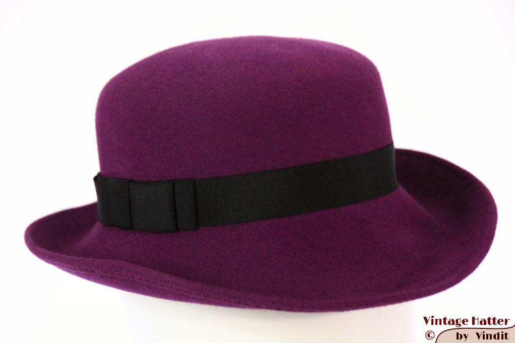 Ladies hat purple felt 54,5 (XS)
