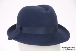 Ladies fedora VEB blue felt 54-55 (XS-S)