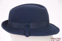 Ladies fedora VEB blue felt 54-55 (XS-S)