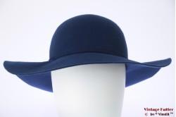 Floppy hat She blue felt 56-57