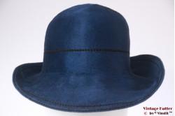 Dameshoed saffier blauw flexibel haarvilt 56