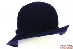 Dameshoed donker blauw velour 54 (XS)